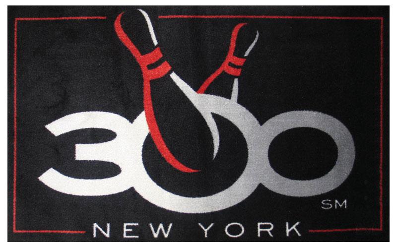 300 bowling 6x4 logo entrance mat