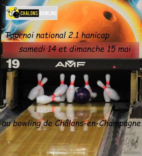 Affiche tournoi 2 1 hdp chalons en champagne