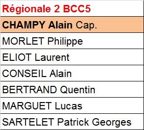 BCC 5 - Régionale 2