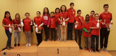 Les jeunes au tournoi ecole adulte du 6 12 2017