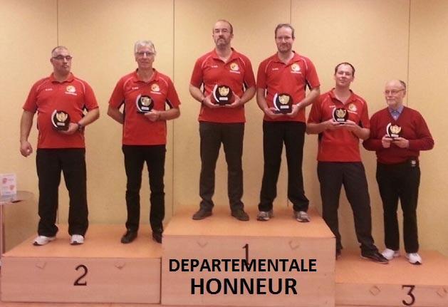 Podium honneur hommes departementale