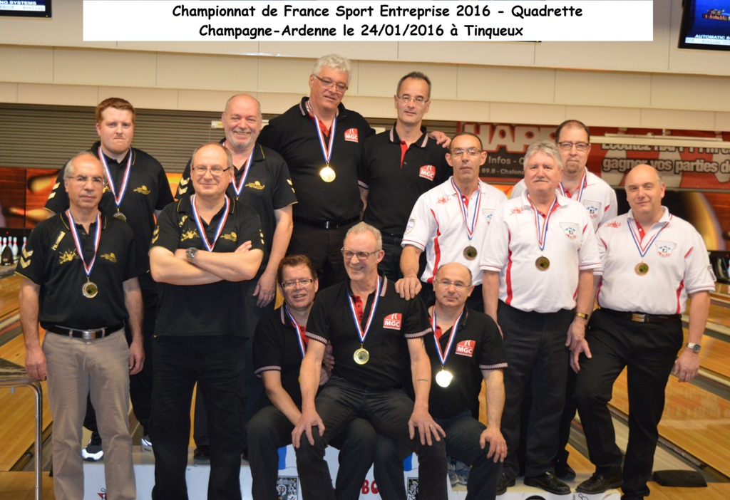 Championnat de France SE Quadrette 2016