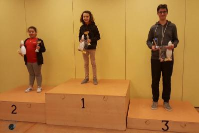 Podium tournoi ecole adulte du 6 12 2017