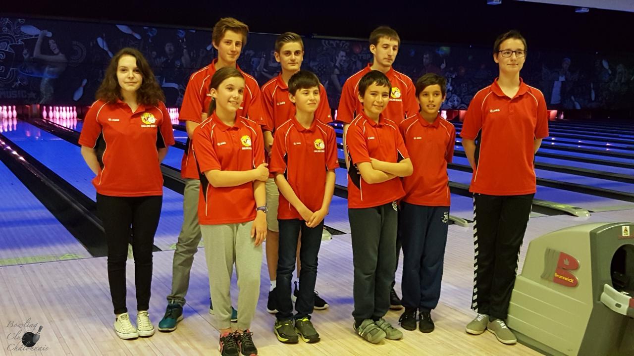 Les 9 jeunes de l'école du BCC à la 4ème journée régionale à Thillois