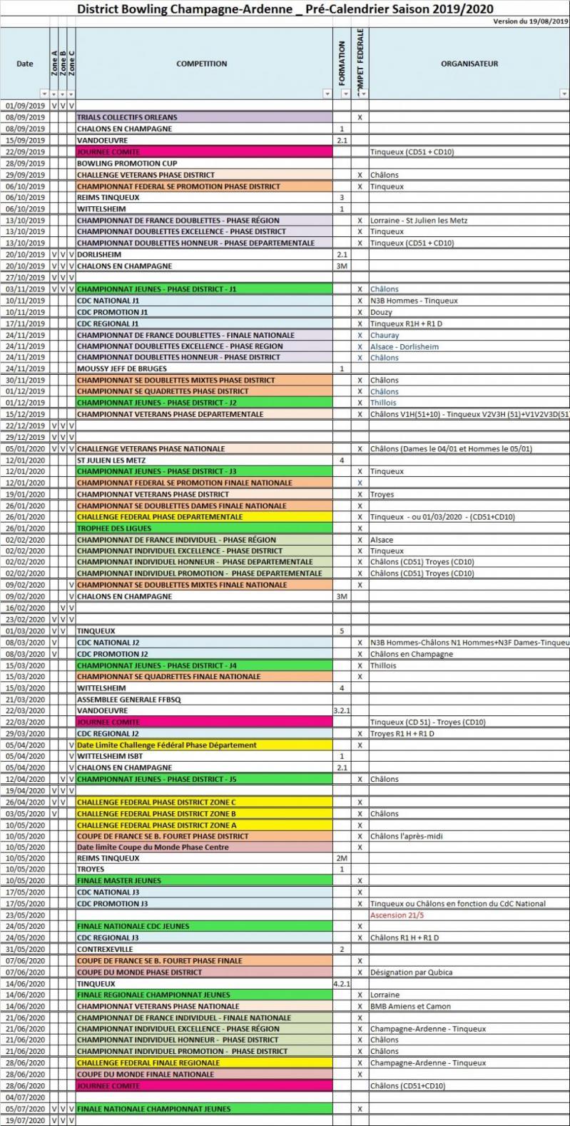 Pre calendrier district champagne ardenne au 19 08 20
