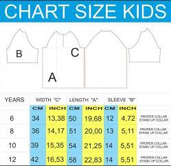 Tableau tailles maillot BCC enfants